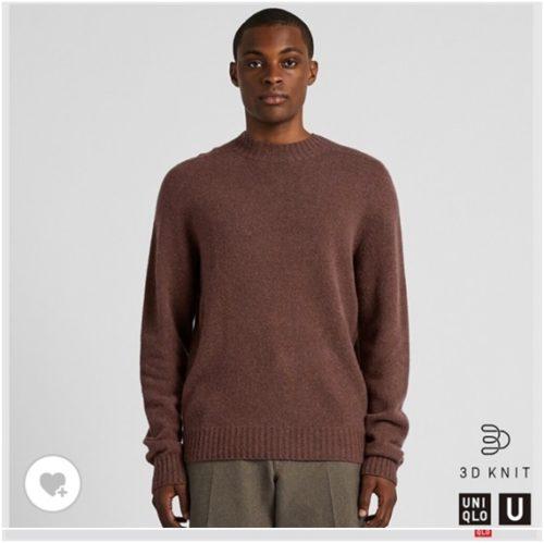 3Dプレミアムラムモックネックセーター