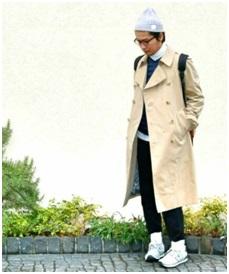 ユニクロの薄手のコート
